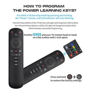 Image 4 - G50S Google Voice Air zdalnego żyroskopu myszy inteligentny Android Tv uniwersalny 2.4G USB bezprzewodowy pilot zdalnego sterowania na podczerwień dla Youtube