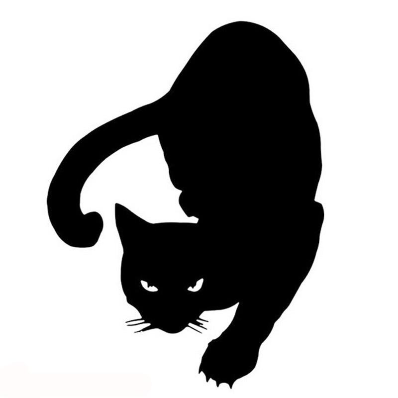 Adorável animal de estimação gato reflexivo carro adesivo estilo do carro decoração adesivo carro modificado acessórios whtie/preto