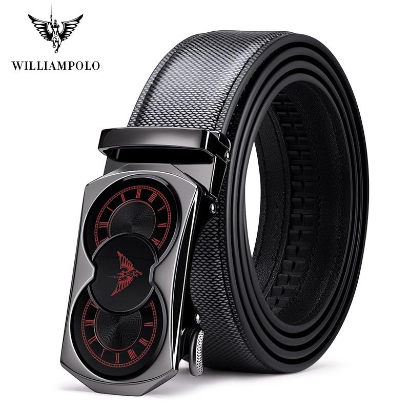 Men's Leather Belt Men's Tide Automatic Buckle Full-grain Leather Pure Leather Belt Personality Wild Trend Belt