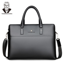 Men Head Layer Cowhide Briefcase Business Travel Bag Male Computer Lapt