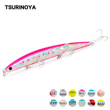 TSURINOYA Schwimm Minnow Angeln Locken DW72 125mm 14,3g Flach Palette Salzwasser Jerkbait Wobbler Köder Meer Bass Locken Swimbait(China)