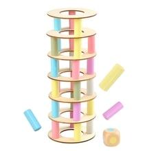 44Pcs Wooden Leaning Tower Building Blocks Set Stacking Balance Game Toppling Timber Stacking Educational Toy