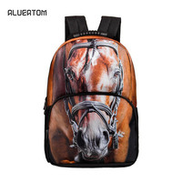 3D Horse School bags For Boys laptop backpack backbag children backpacks school backpack for girls bag pack