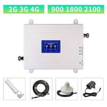 Gsm 2g 3g 4g telefone celular impulsionador tri banda 900 1800 2100 móvel amplificador de sinal lte repetidor celular gsm dcs wcdma banda 1/3/8