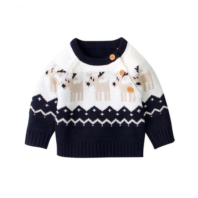 2020 Autumn Winter Boy Girl Christmas Elk Long Sleeve Cartoon Knitted Sweater Boys Girls Sweaters For Baby Girls Kids Sweaters 6