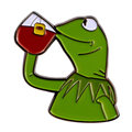 Но это не моя деловая эмалированная шпилька Kermit Meme