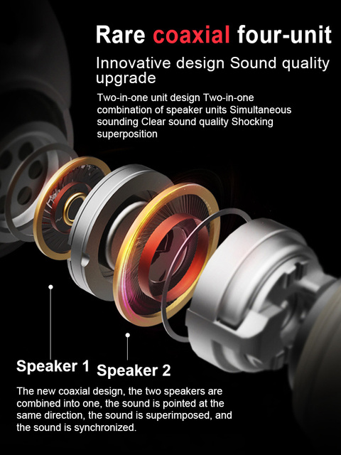Wired Earphones Hifi Headphones 1.2M  In ear  Deep Bass Stereo Earbuds Gaming headset W/Mic For Iphone Samsung  LG xiaomi and Pc 2