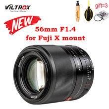Viltrox 56mm f1.4 prata lente preta xf APS-C grande abertura autofoco retrato para fujifilm x X-T30/X-T3/X-PRO3/X-T200 X-T2 xt4