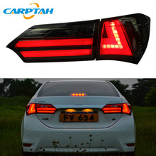 цена на Car Styling Taillight Tail Lights For Toyota Corolla 2014 2015 2016 Rear Lamp DRL + Turn Signal + Reverse + Brake LED