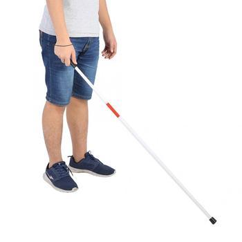Crutch de caña reflectante plegable de envío rápido de Oversea, Manual antigolpes portátil para gente ciega