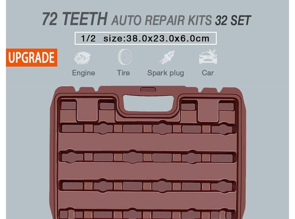 AI-ROAD Household Multifunction Car Repair Tool Kit Home 32 set