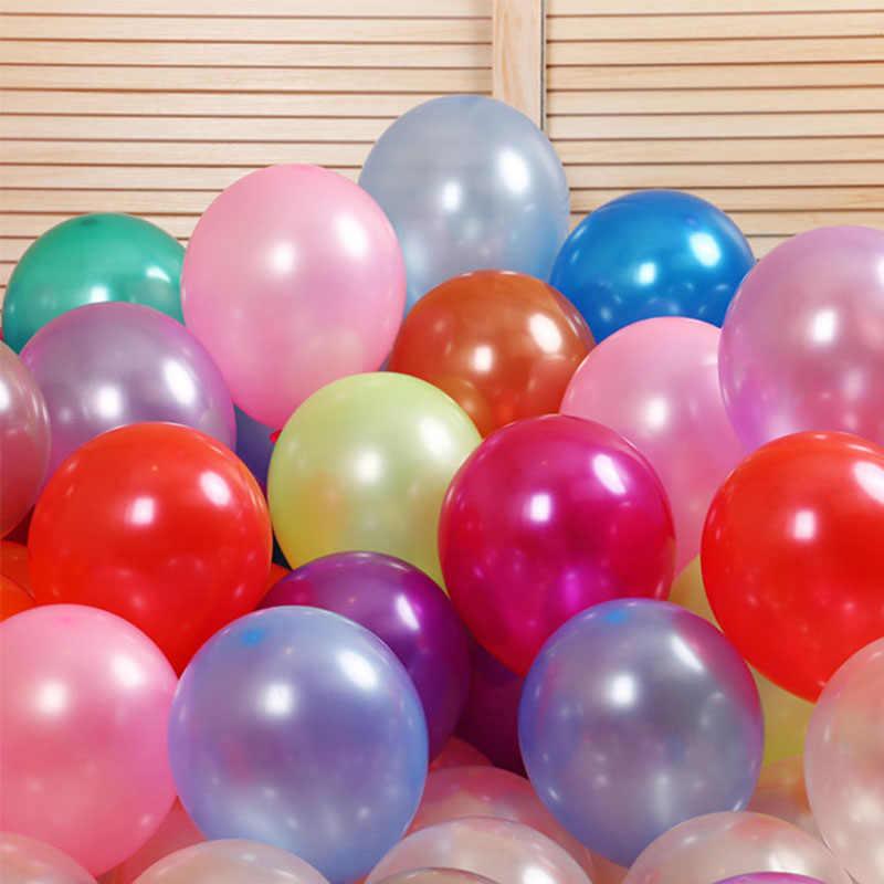 10 Buah Pesta Ulang Tahun Dekorasi Balon 10 Inch 1.5G Lateks Penebalan Bola Mutiara Anak Mainan Anak Pernikahan Bayi Shower halloween