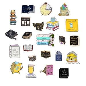 QIHE JEWELRY Books theme series enamel pins