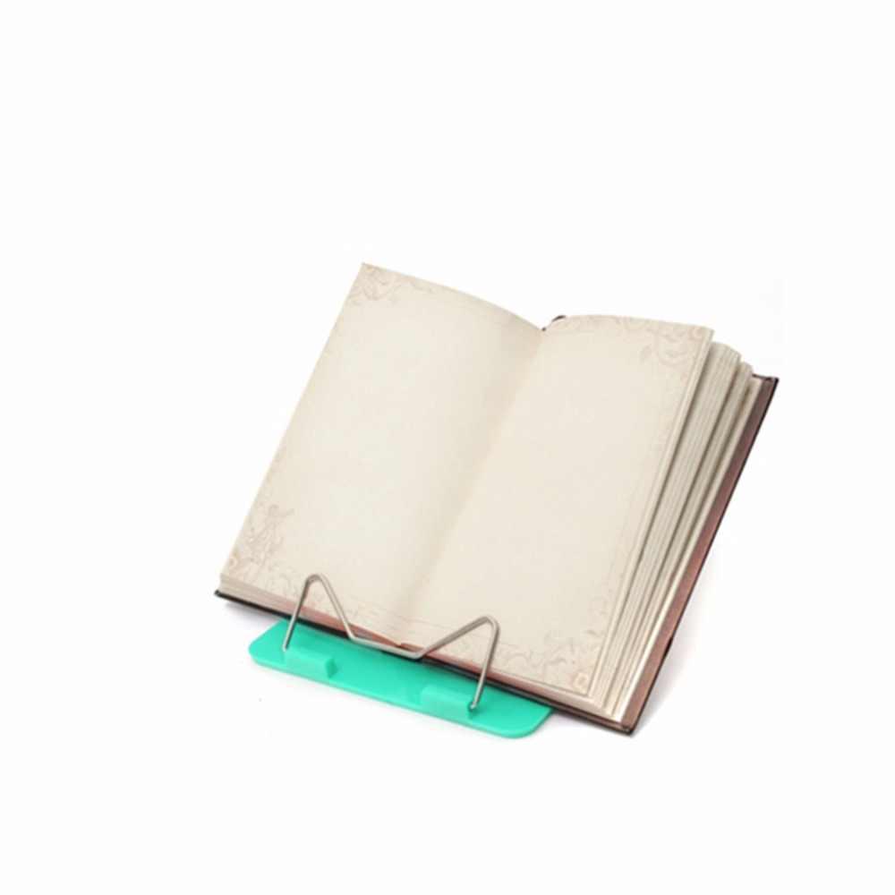 ปรับพับได้แบบพกพาอ่านหนังสือเอกสาร Office Supply สแตนเลสสตีลแร็คฐานพลาสติกอ่าน Boo