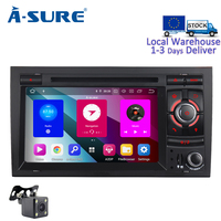 A Sure 7 Inch 2 Din 8 Core Android 9.0 Radio GPS DVD Player Navigation For Audi A4 (2002 2007) S4 RS4 8E 8F B9 B7 SEAT EXEO RNS