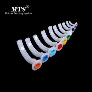 Image 1 - 15 stücke Anästhesie Guedel Tubus Medizinische Oral Luft Weg Farbe Codiert Etablieren eine atemwege für CPR notfall patienten