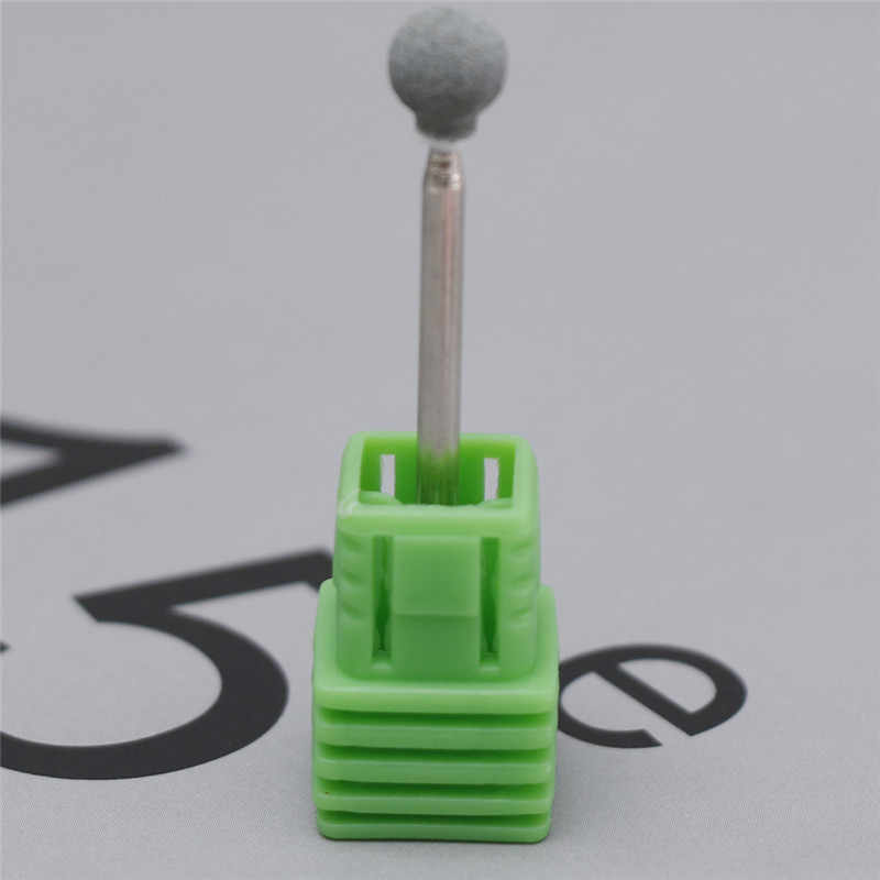 3 Warna Electric Kuku Bor Batu Gerinda Bulat Burr Kutikula Bersih Mill Bit Electric Manikur Kuku File Bor Seni Kuku alat