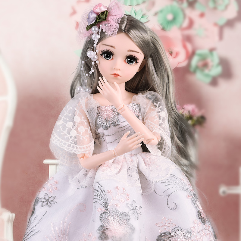 <font><b>1/4</b></font> SD Dolls 18inch <font><b>BJD</b></font> Doll Makeup doll Ball Jointed Dolls Clothes Outfit Shoes Wig Hair toys for childern image