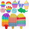 Ice Cream Fidget Toy Push Bubble Toys Rainbow Adult Kids brinquedos Autism Needs Antistress Toys for Children Christmas Gifts