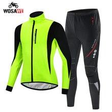 Wosawe inverno térmico jaqueta da motocicleta dos homens à prova de vento à prova dwindproof água quente jaqueta bicicleta mtb terno da motocicleta roupas