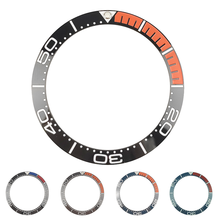新しい 38 ミリメートル高品質黒/orangeセラミックベゼルカバー海マスターSKX007 SKX009 ダイバーメンズ腕時計発光pip