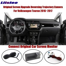Liislee For Volkswagen Touran 2016~2017 Connect Original Screen Monitor RearTrunk Handle Camera Intelligent Dynamic Trajectory