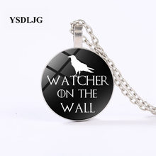 YSDLJG เกม of Thrones สร้อยคอ-Watcher on The Wall-Stark Raven Night's Watch สร้อยคอยาว(China)