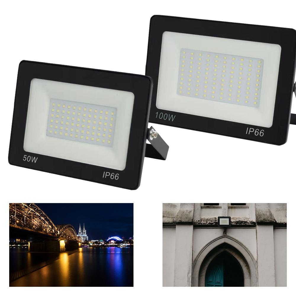 Ultra Thin Led Floodligh AC220v IP65 10W 20W 30W 50W 100W 150W 200W Waterproof Led Spotlight Exterior Led Wall Lamp Light