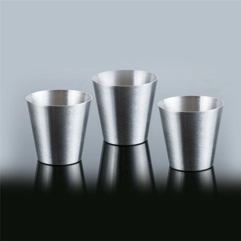 6 Pieces Stainless Steel Accessories Wine Beer Whiskey Mugs Outdoor Travel Copa 30ml Cups Sets