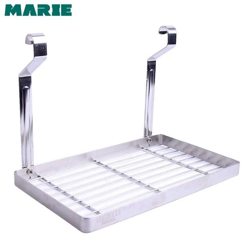 304 الفولاذ المقاوم للصدأ رف مطبخ اكسسوارات الرف المنظم تخزين الرف رف أوعية حامل زجاجة 60-80 سنتيمتر أنبوب