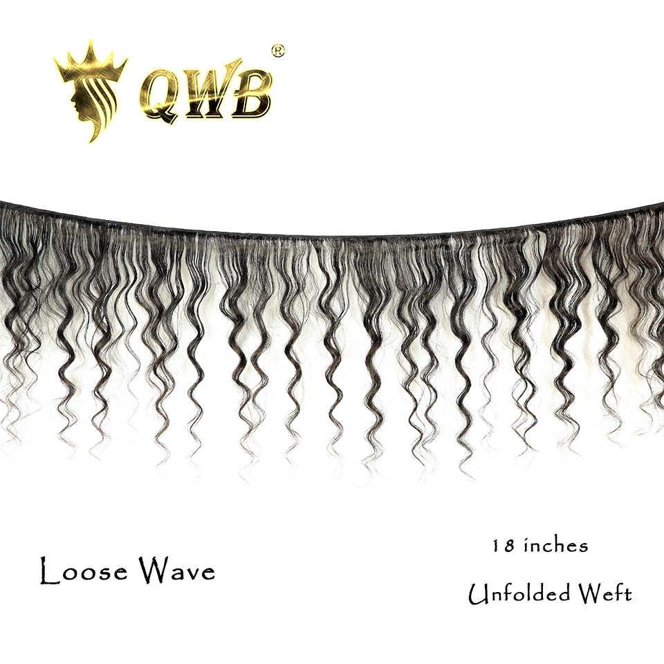 """QWB Freies Verschiffen Lose Weben 3 Bundle/Lots 12 ''~ 28"""" 'Professional Verhältnis Brasilianische Reine Natur Farbe 100% menschliches Haar Verlängerung"""