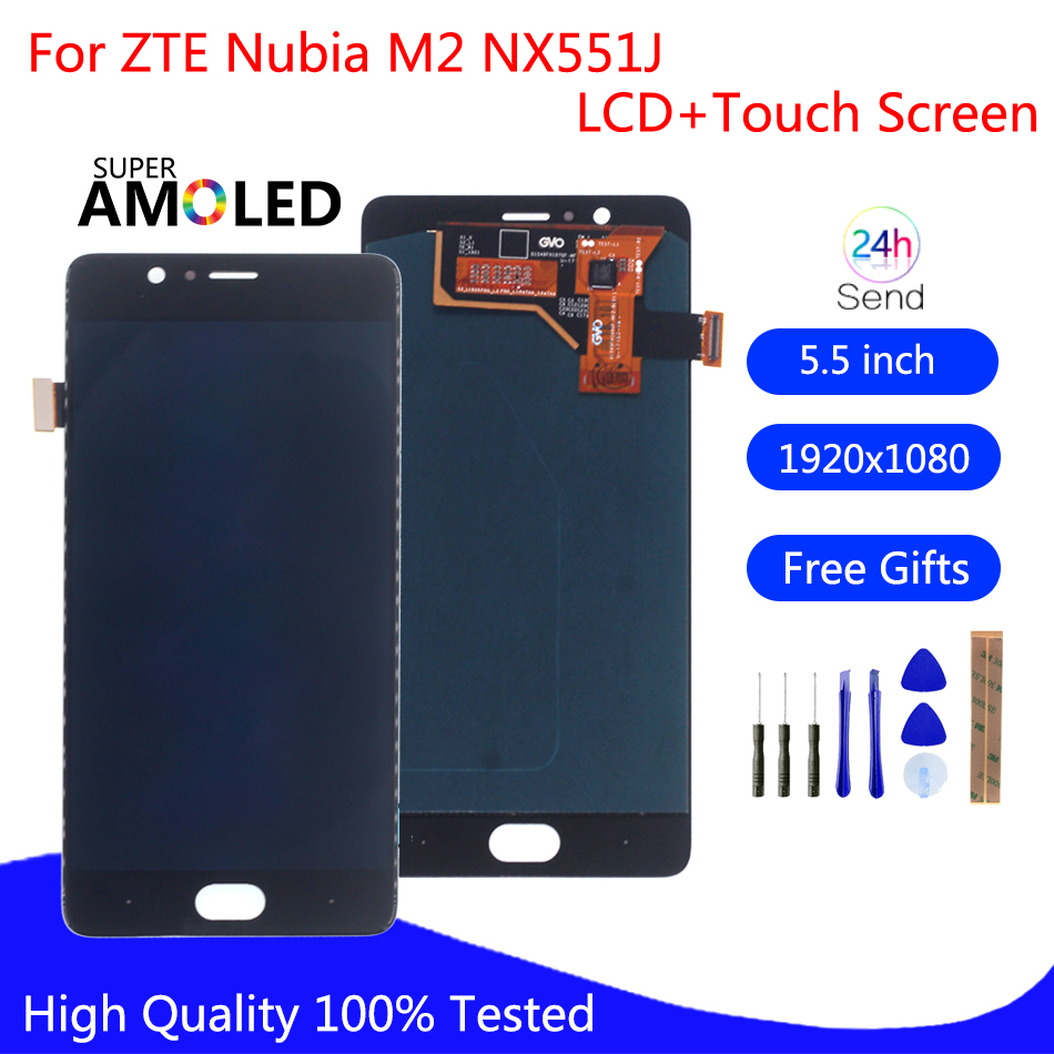 Original For ZTE Nubia M2 NX551J LCD Display Touch Screen Digitizer For Nubia M2 Display Assembly Replacement Screen LCD Display(China)