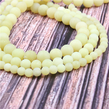 Hot?Sale?Natural?Stone?Frosted Yellow Lemon15.5?Pick?Size?4/6/8/10/12mm?fit?Diy?Charms?Beads?Jewelry?Making?Accessories