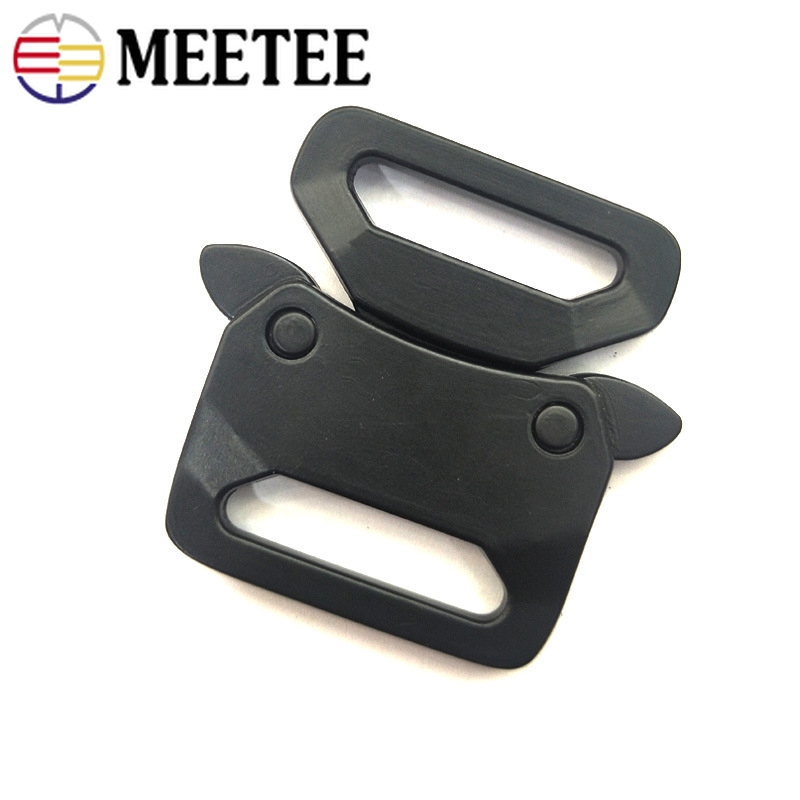 Deepeel 2/5pcs ID20/25mm Metal Automatic Release Buckles Belt Adjustment Buckle DIY Multifunctional Outdoor Strap Band Snap Hook
