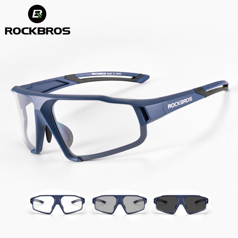 ROCKBROS occhiali da ciclismo fotocromatici occhiali da bici per bici sport occhiali da sole da uomo MTB occhiali da ciclismo su strada occhiali di protezione 1