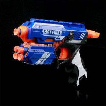 toy New Manual Soft Bullet Gun Suit for Nerf Soft bullets Toy Pistol Gun Long Range Dart Blaster Kids Toys Gift worker 22 bullets model curve soft bullet clip ammo cartridge dart clip for nerf