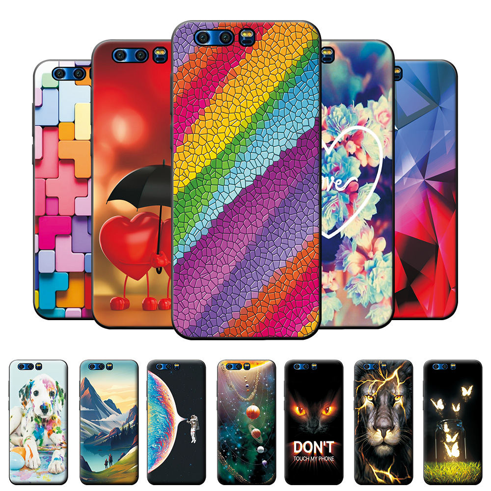 Case For Honor 9 Case Cover on Honor9 Honor 9 Phone Case  For Huawei Honor 9 STF-L09 Case Silicone TPU Back Cover Bumper 5.15