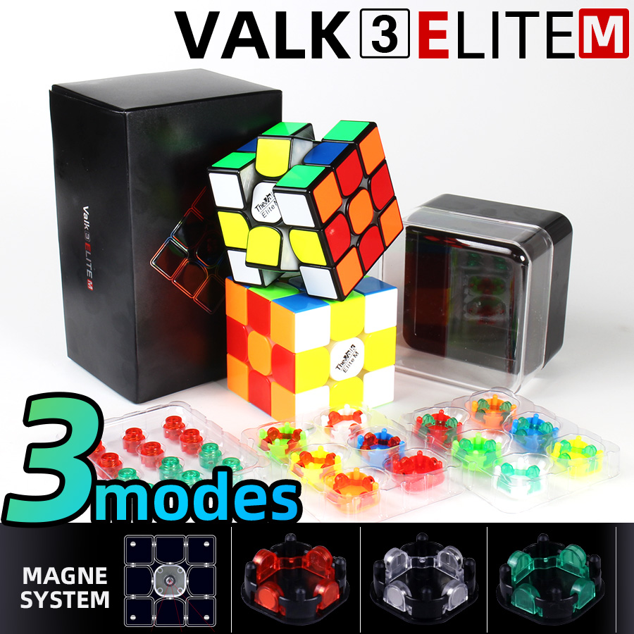 Valk3 Elite M 3x3x3 Magnetic Magic Speed Cube 3x3 Cubo Magico Magnets Puzzle Cube Mofangge Valk3 M WCA Competition Cubes