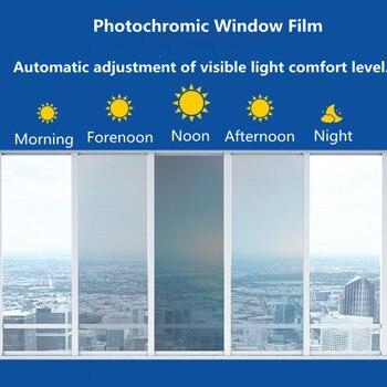 SUNICE 75%~20%vlt Photochromic Film Car Window Tint...