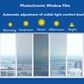 Фотохромная пленка SUNICE для автомобиля, 21 х30 см, меняющая цвет, оттенок окон автомобиля VLT 75% ~ 20%, нанооттенок, летняя солнечная + УФ-защита, обр...