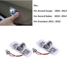 2 Stuks Led Auto Welkom Deur Verlichting Projector Voor Honda Accord 7 8 7th 8th Crosstour Coupe Accord Sedan 2010 2014 Crosstour 2011