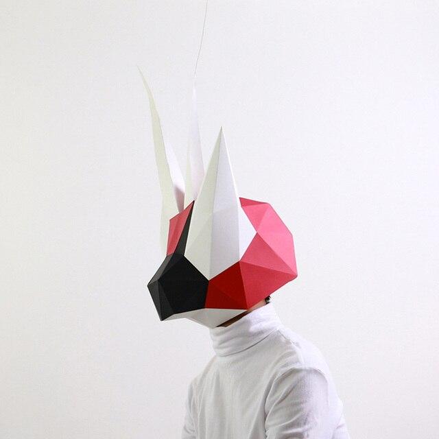 מסכת ראש אוריגמי - גמל שלמה 3