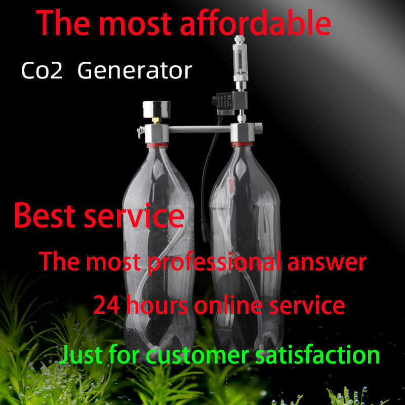 Akwarium CO2 Regulator zestaw do organizacji co2 Generator dyfuzora z zaworem Bubble Atomizer Solenoid Fish Tank dwutlenek węgla dla roślin