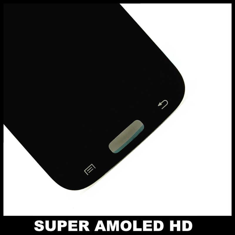 كامل محول الأرقام شاشات الكريستال السائل قطع غيار سامسونج غالاكسي S4 i9500 i9505 i9506 i337 الهاتف AMOLED شاشة إل سي دي باللمس شاشة الجمعية