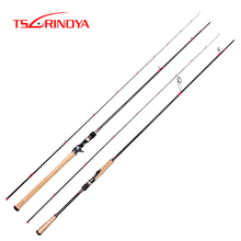 TSURINOYA Fishing Rod DEEP ATTACK 2.47m 2.28m M ML Power Fuji Accessories X-CROSS Carbon Solid Long Casting Spinning Bass Rod
