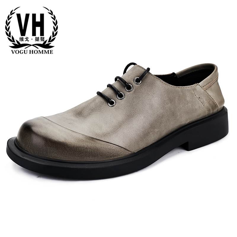 High Quality Genuine Leather Breathable Business Casual Shoes Men Designer Shoes Men High Quality Autumn Winter Retro Cowhide