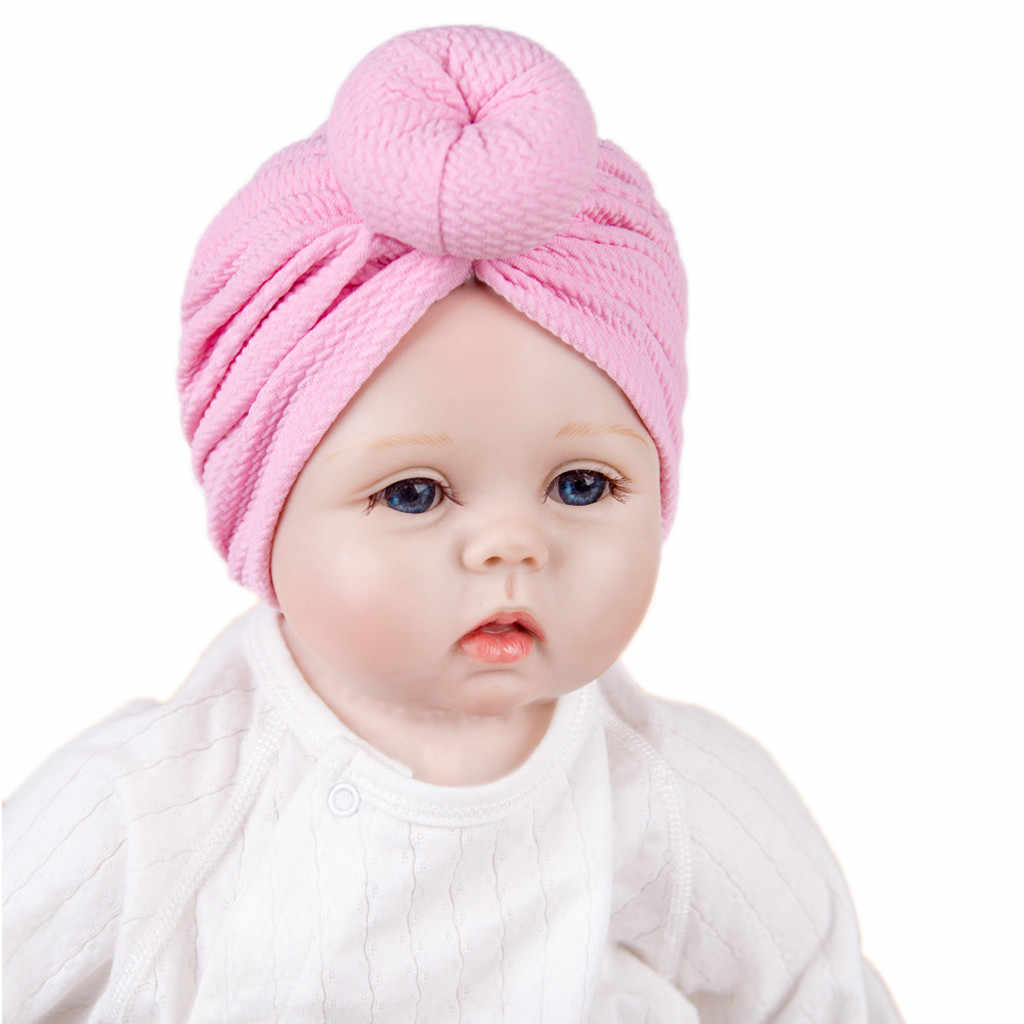 Baby Boy Girl Solid Knotted Hat Beanie Headwear Cap Baby Winter Hat Newborn Photography Props Bonnet Bebe Fille Шапка Детская