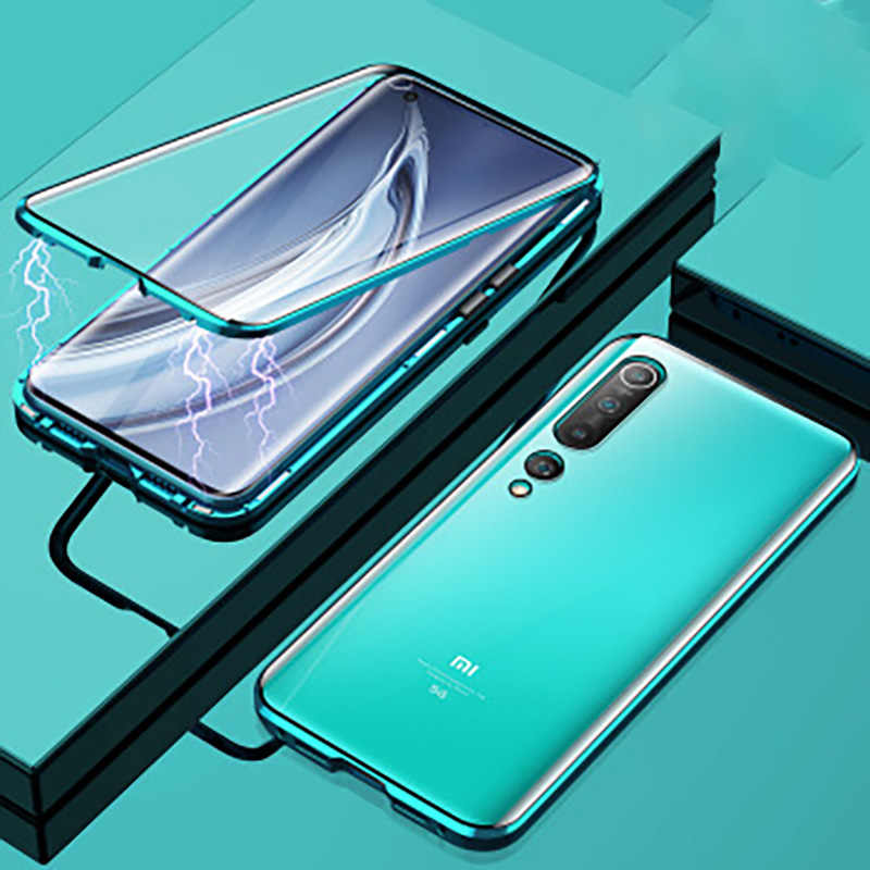360 Từ Tính Hấp Phụ Kim Loại Dành Cho Xiaomi Redmi 10X K30 K20 Note 9 8 7 9S Pro 8T dành Cho Xiaomi 10 CC9 Note 10 9T Pro 9 A3 Bao