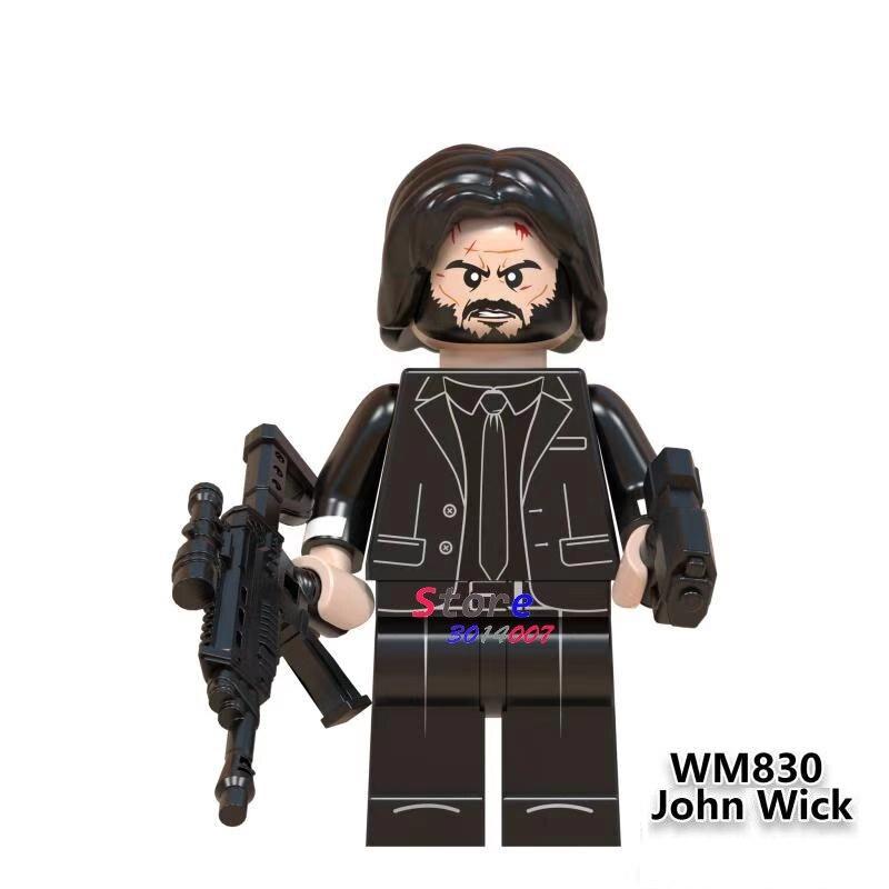 Single John Wick House Of Paper Popular DJ   Queen Leader Singer Kiss Band Building Blocks Toys For Children