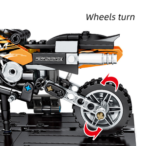 Image 5 - SEMBO 171pcs Technic Motorbike Harleyed Building Block Fit By Technic Motorcycle Car Vehicles Autobike Set for Children Boy Toys